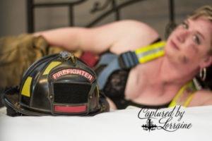 Firefighter boudoir, sexy firefighter, Batavia Il boudoir photographer