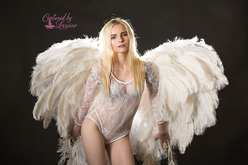 Angel Wings Boudoir Photos