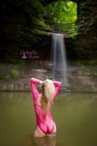 Waterfall Boudoir Photos Illinois
