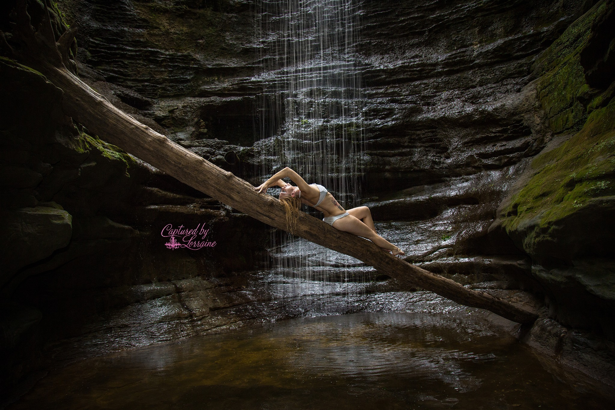 Waterfall Boudoir Photos Illinois
