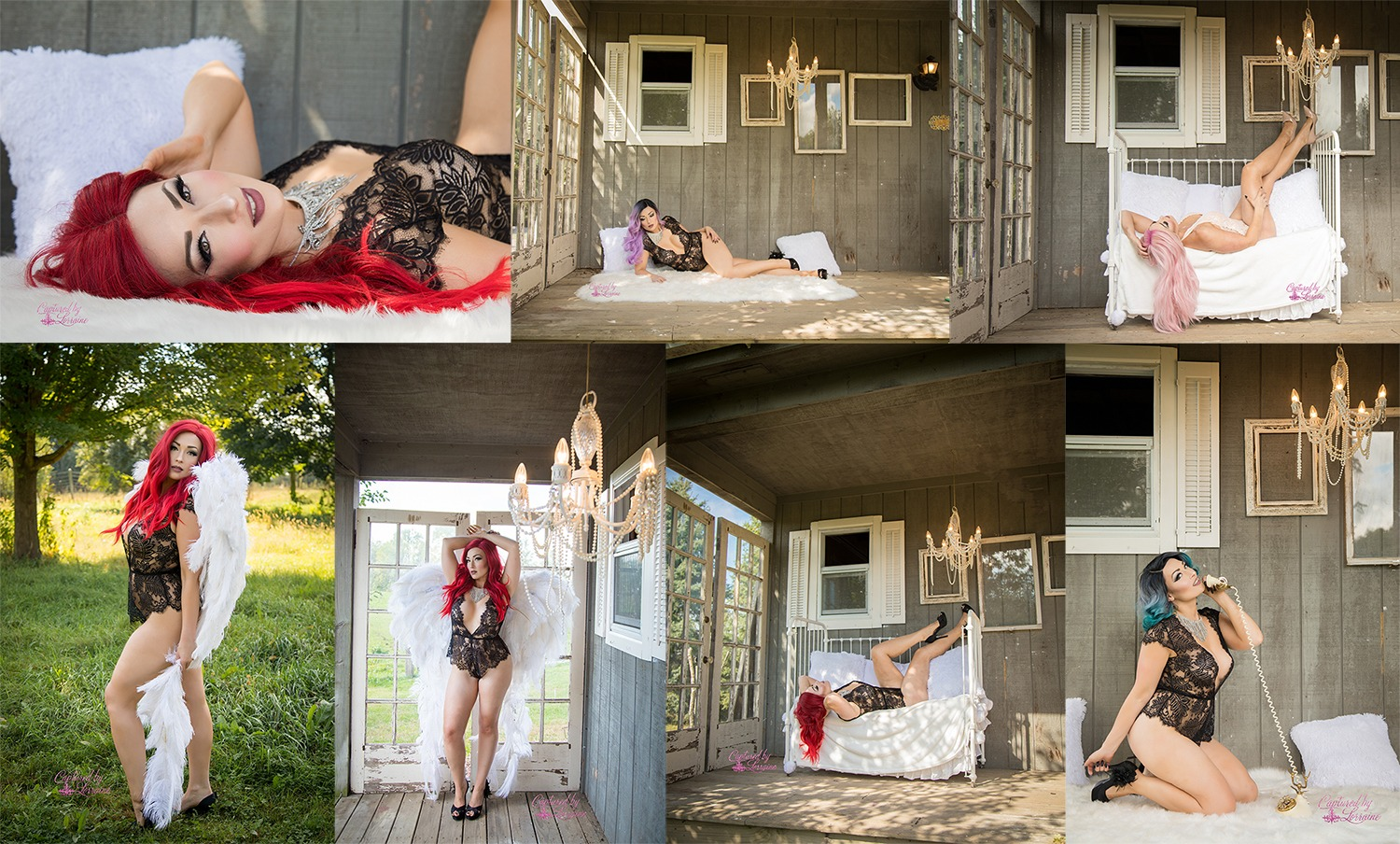 Angel Wing and Outdoor Boudoir Session-Elgin Illinois