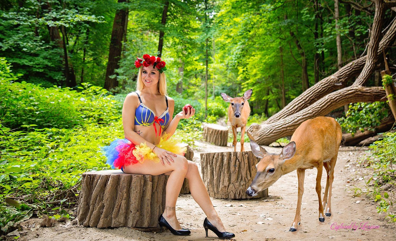 Snow White Disney Boudoir Outdoors